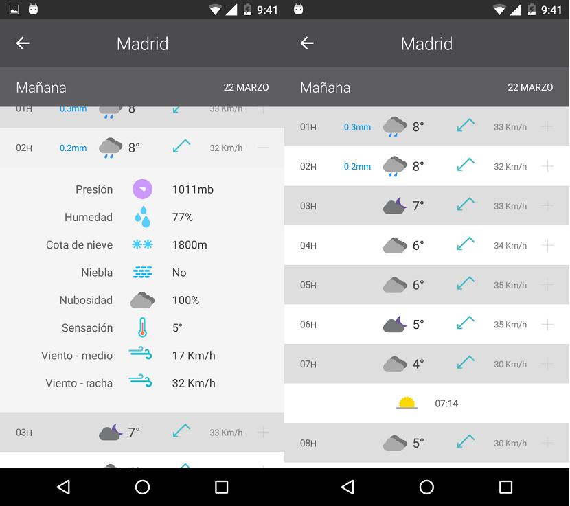 La migliore applicazione meteo per Android 4