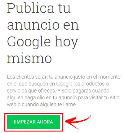 Come creare un account Google Adwords in modo rapido e semplice? Guida passo passo 1