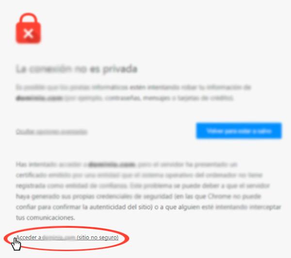 Correggi l'errore: «La connessione non è privata» in Chrome e Firefox - Guida dettagliata 2019 3