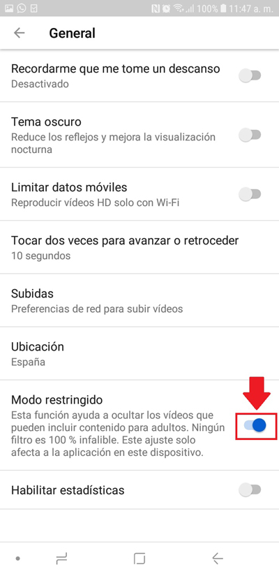 Modalità con restrizioni di YouTube: che cos'è, a cosa serve e come possiamo abilitarlo o disabilitarlo secondo le nostre esigenze? 8