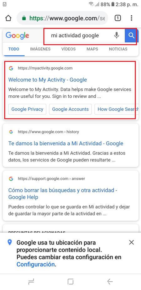 Cronologia di navigazione di Google Come visualizzare, configurare, eliminare e scaricare tutto? 6