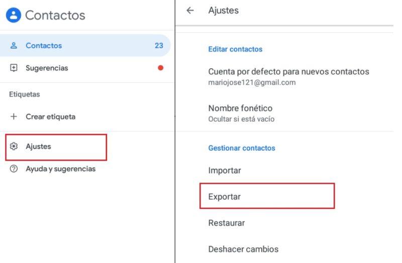 Come trasferire tutti i tuoi contatti dal telefono Android a Gmail? Guida passo passo 4