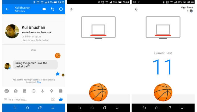 Facebook Messenger e il suo gioco di basket nascosto, come si gioca? 1