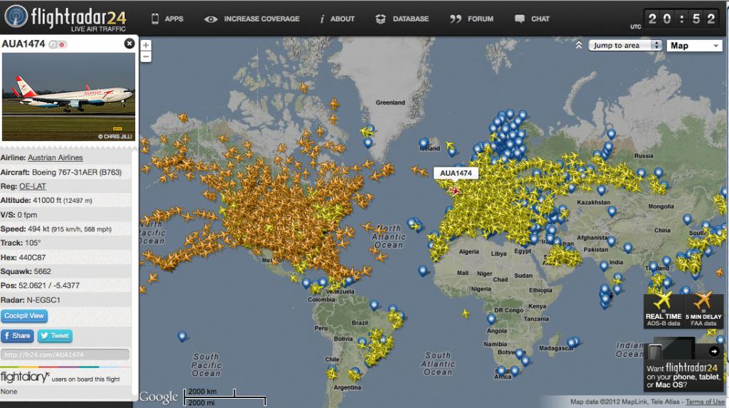Come conoscere il traffico aereo in tempo reale con Flightradar24 1