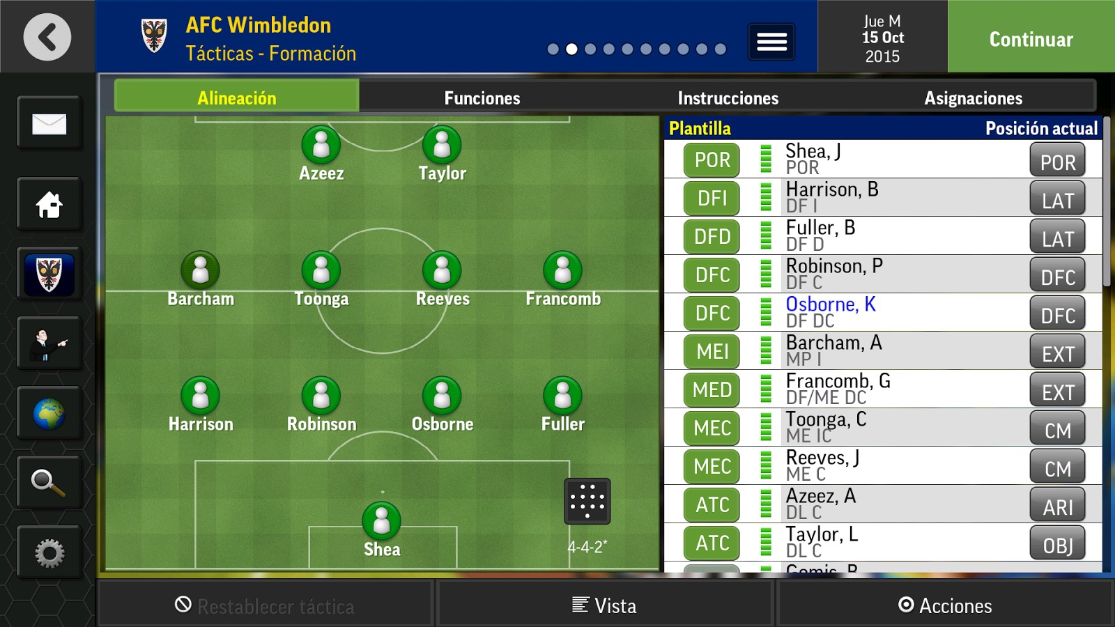 Football Manager Mobile 2016 per Android 1