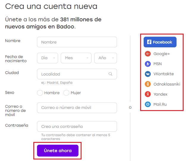 Come creare un account su Badoo gratuitamente in spagnolo facile e veloce? Guida passo passo 1