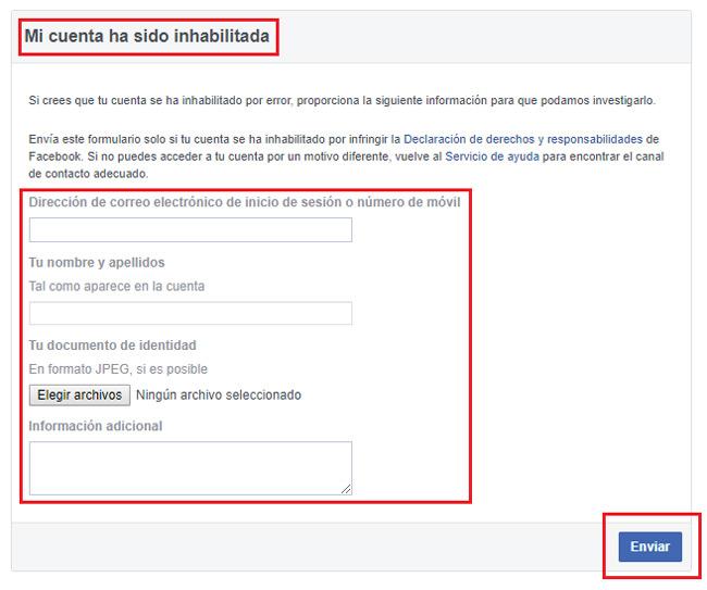 Come attivare e ripristinare il mio account Facebook disabilitato? Guida passo passo 3