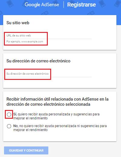 Come creare un account Google Adsense per siti Web e YouTube? Guida passo passo 3