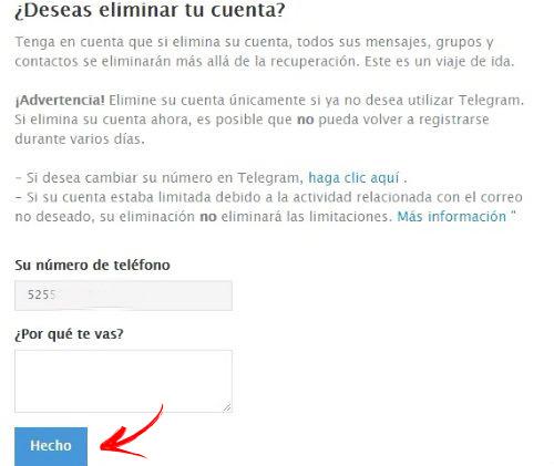 Come eliminare un account Telegram? Guida passo passo 2