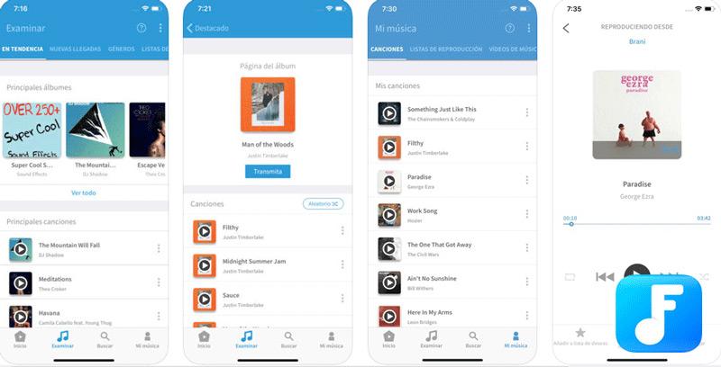 Quali sono le migliori applicazioni per scaricare musica MP3 gratuita per iPhone e iPad? Elenco 2019 4