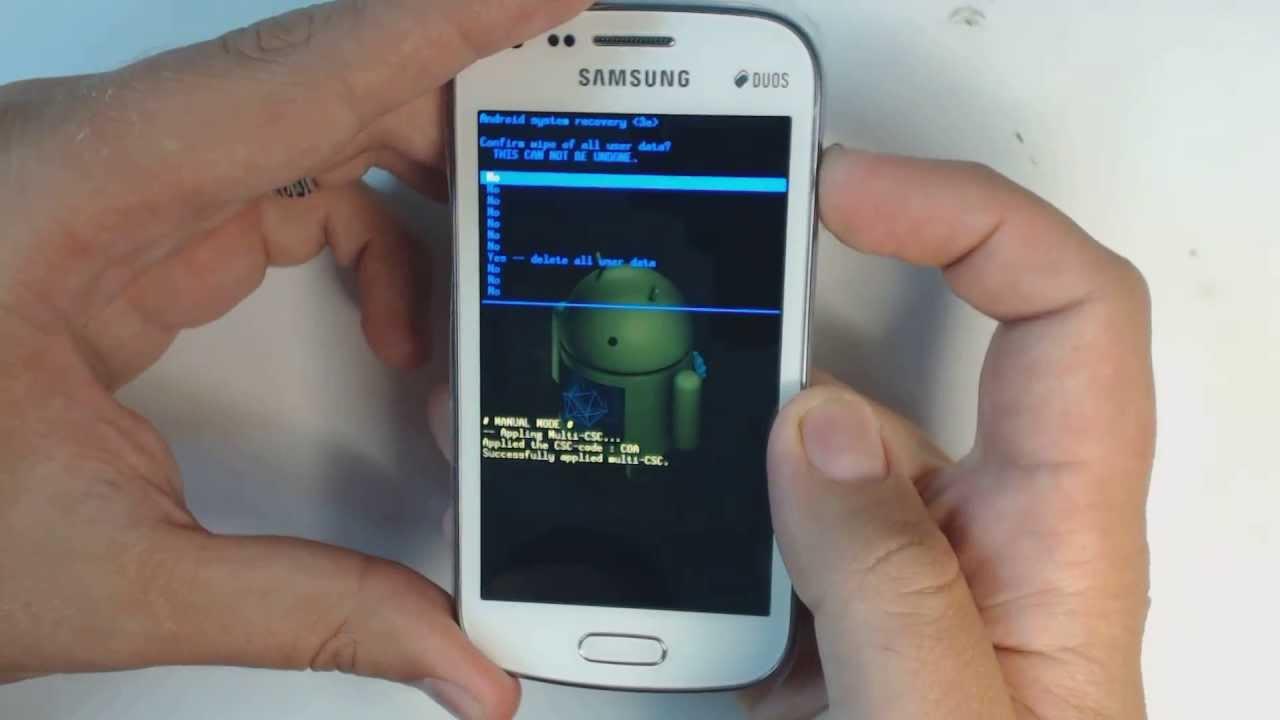 Come eseguire un hard reset su un Samsung falso 1