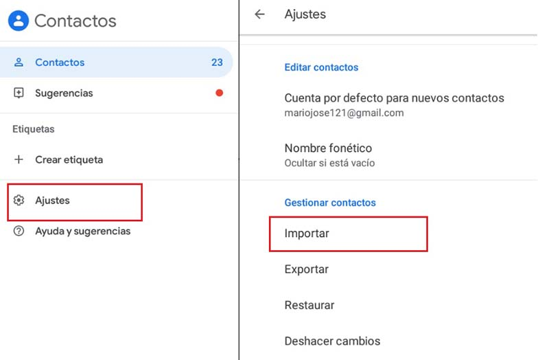 Come trasferire tutti i tuoi contatti dal telefono Android a Gmail? Guida passo passo 5