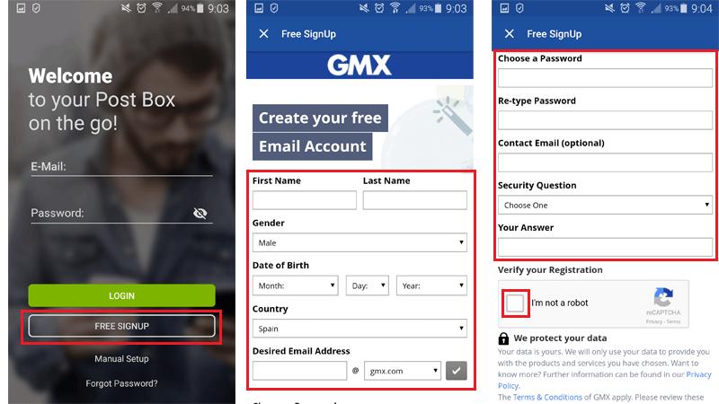 Come creare un account di posta elettronica GMX Mail gratuito? Guida passo passo 6