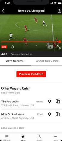 Quali sono le migliori applicazioni per guardare il calcio su iPhone gratuitamente dal vivo e senza tagli? 2019 4