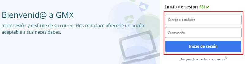 Come accedere all'e-mail GMX in spagnolo facilmente e rapidamente? Guida passo passo 2