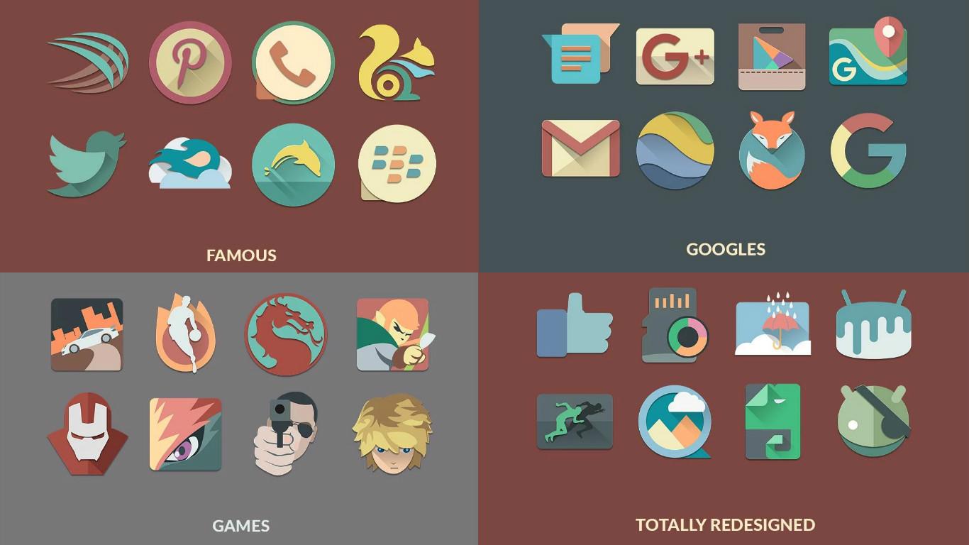 I 5 migliori pacchetti di icone per Android 1