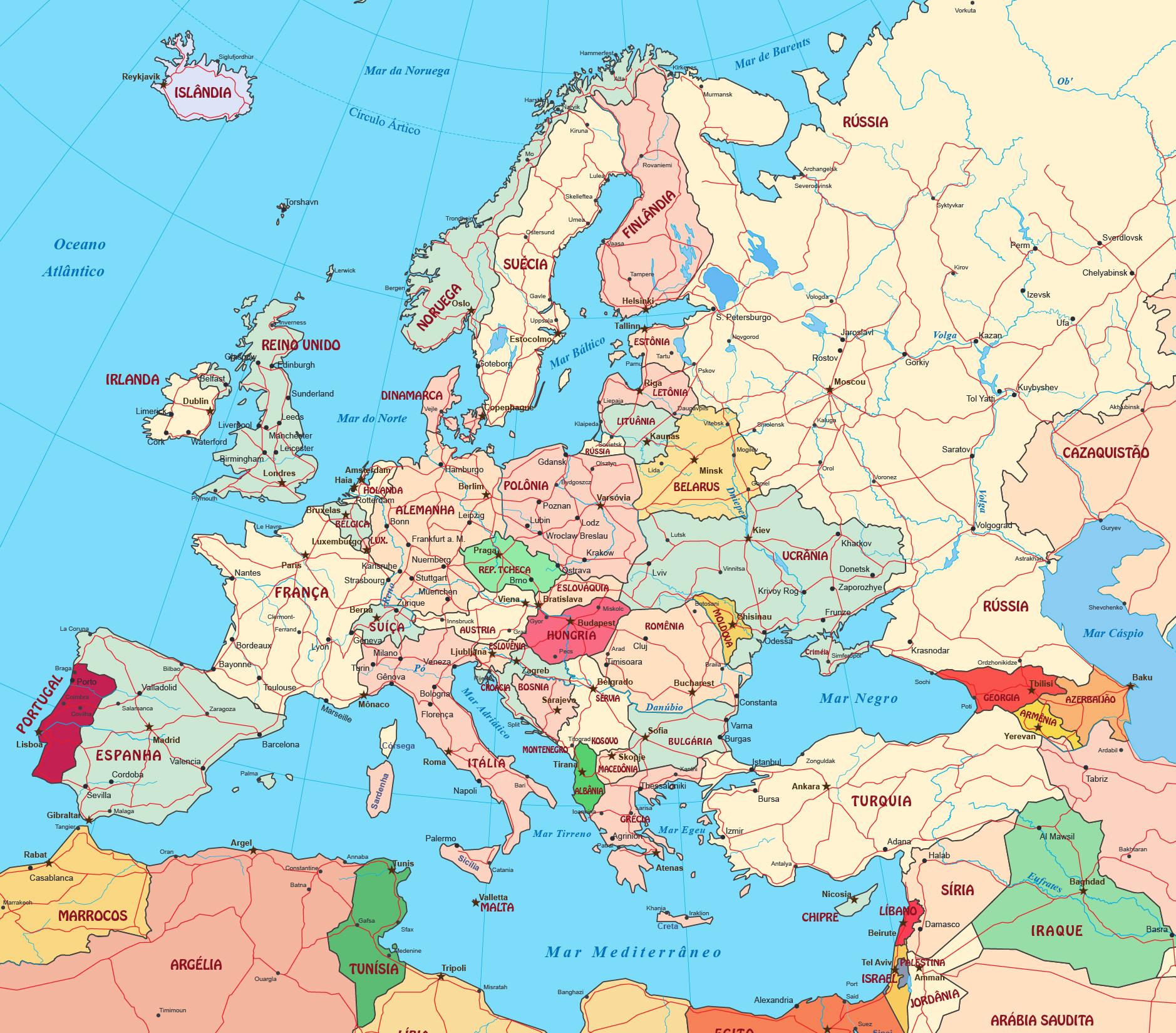 Mappa politica online dell'Europa 2
