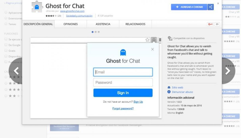 Nascondi / Rimuovi ultima connessione in Facebook Messenger 2