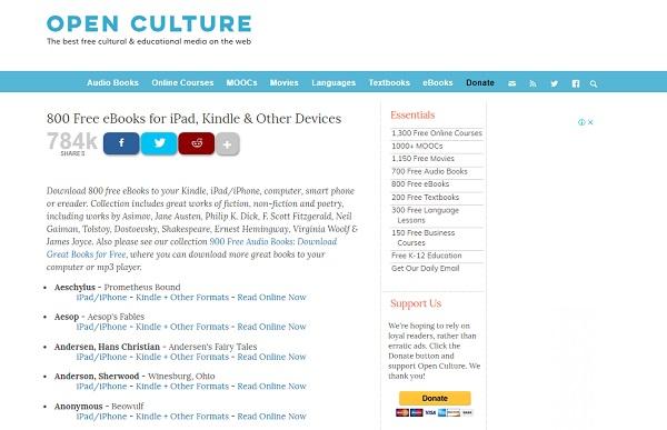 Quali sono le pagine migliori per scaricare libri digitali, ePub, eBook o PDF? Elenco 2019 31