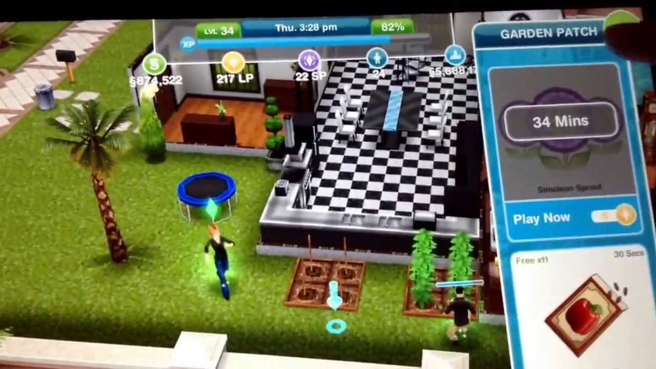 Come ottenere PV gratis in Sims Freeplay 1