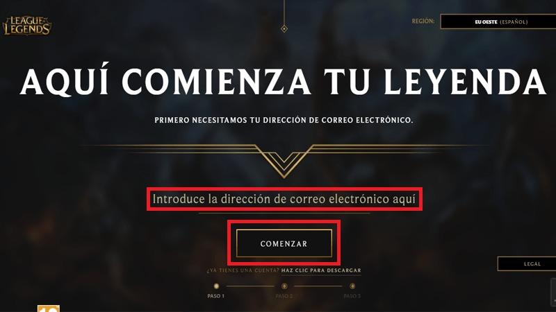 Come creare un account Lol - League of Legends gratuito in spagnolo? Guida passo passo 1