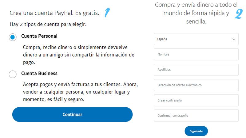 Come creare un account Paypal gratuito, facile e veloce? Guida passo passo 1
