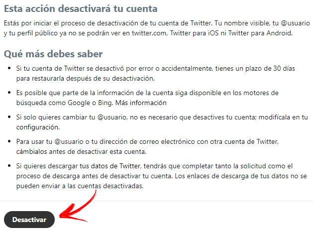 Come eliminare un account Twitter per sempre? Guida passo passo 4