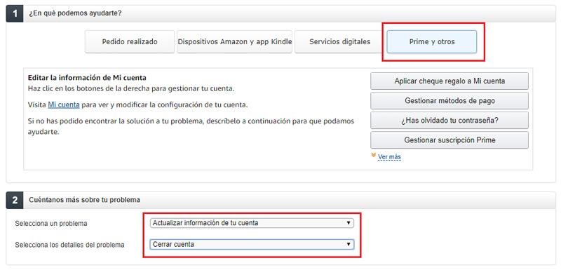 Come eliminare un account Amazon e annullare l'iscrizione a Prime? Guida passo passo 5