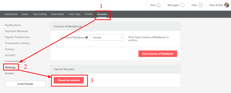 Come eliminare un account Airbnb facile e veloce per sempre? Guida passo passo 2
