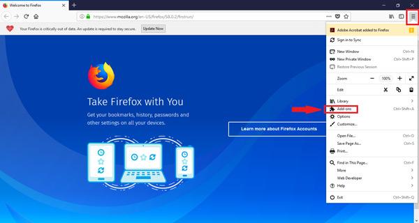 Come abilitare o disabilitare i plugin e le estensioni di Mozilla Firefox? Guida passo passo 1