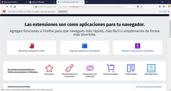Come abilitare o disabilitare i plugin e le estensioni di Mozilla Firefox? Guida passo passo 3
