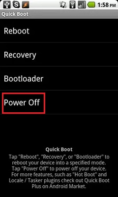 Come accendere, spegnere o riavviare un telefono cellulare con il pulsante fisico rotto? Guida passo passo 3