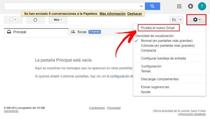 Come attivare e aggiornare alla nuova versione di Gmail? Guida passo passo 2