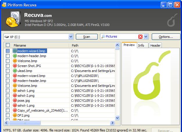 Recupera i file cancellati dal computer con Recuva 2