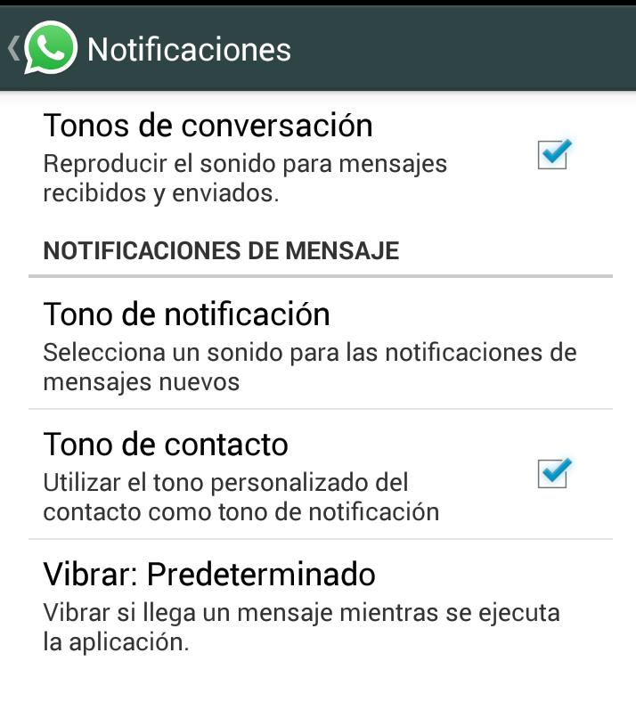 Come cambiare i toni di WhatsApp 1