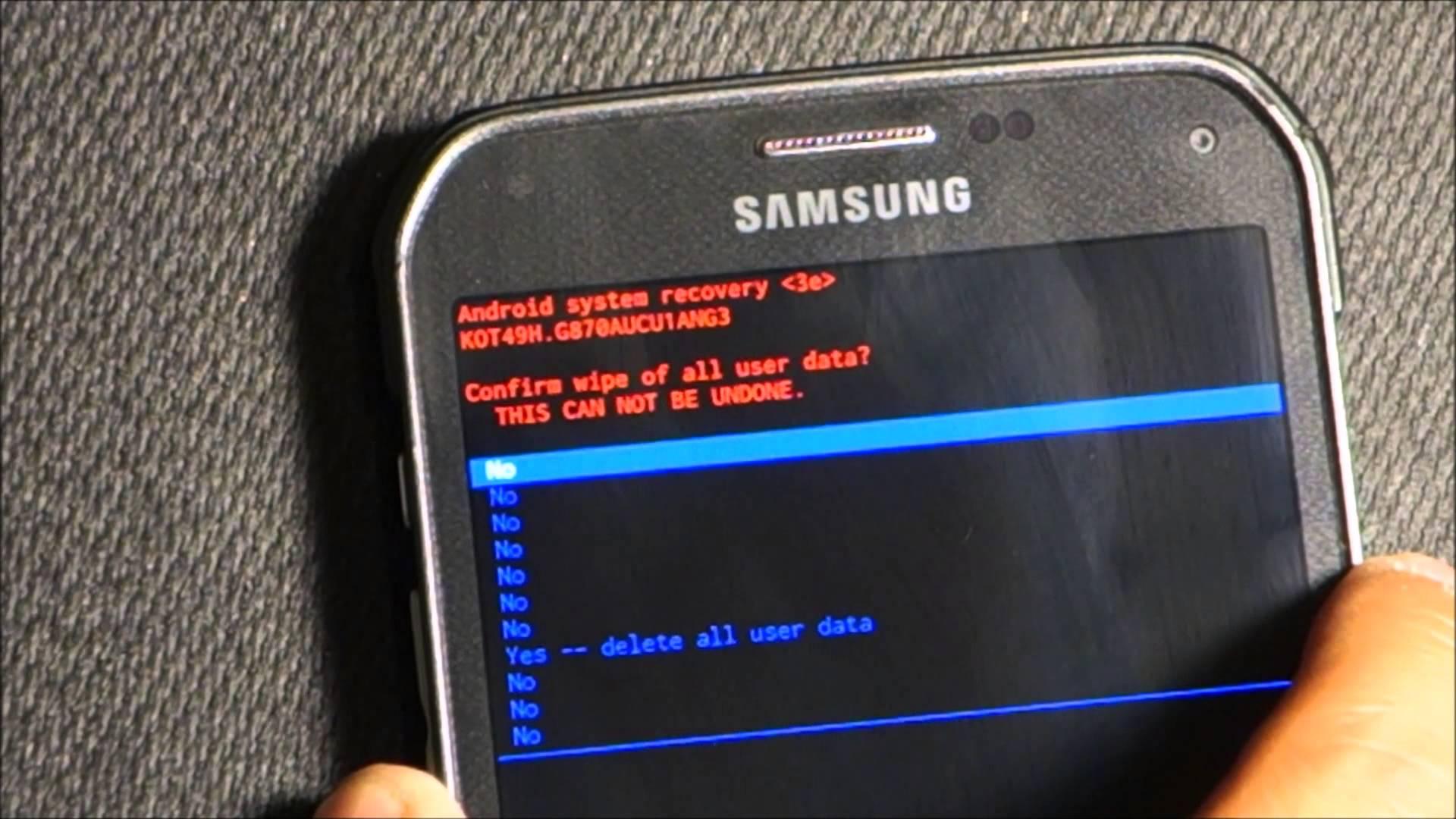Come accedere alla modalità di recupero su Samsung Galaxy S5? 1
