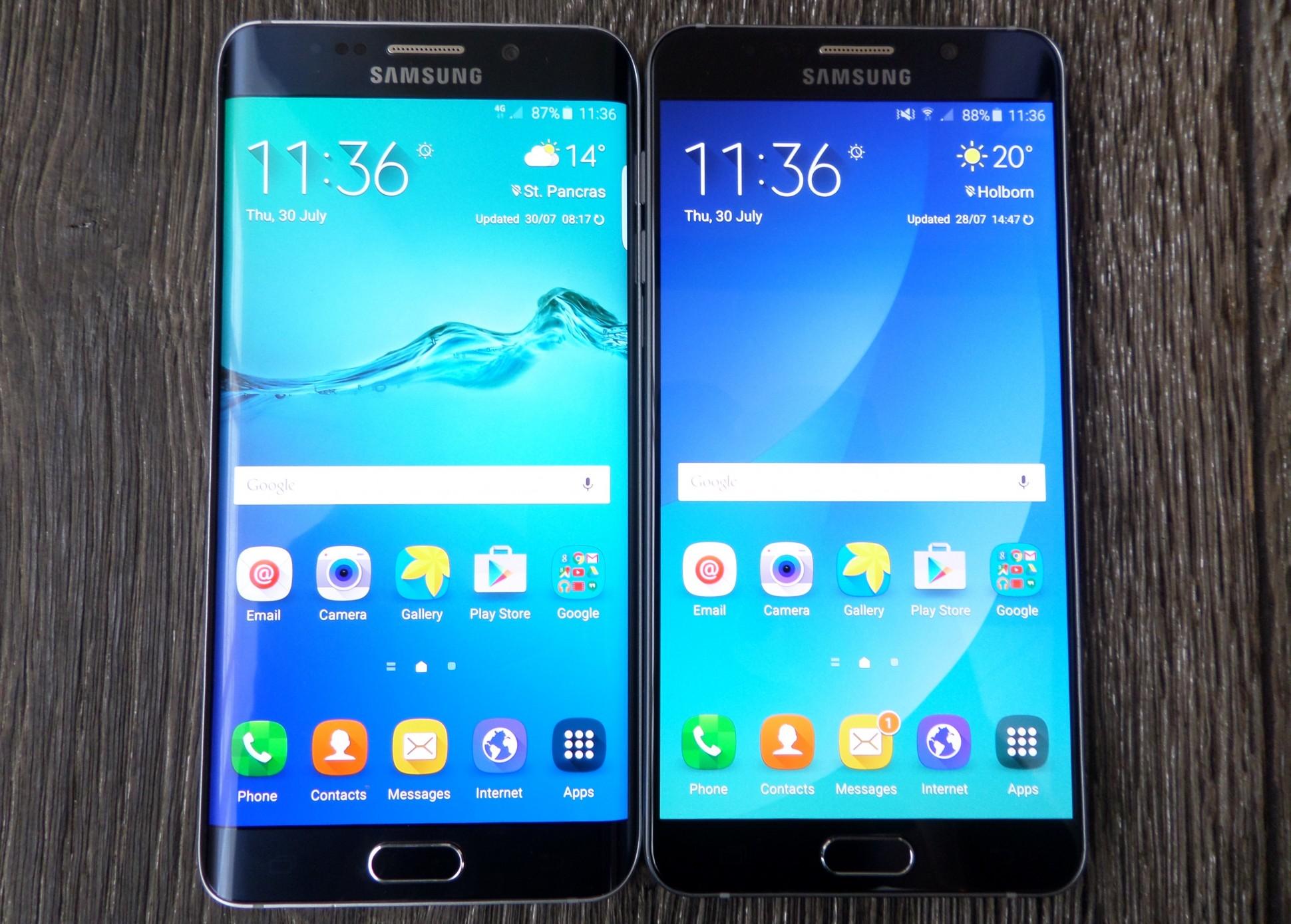 Le principali differenze tra Galaxy Note 5 e Galaxy S7 2