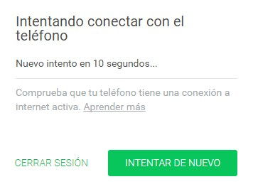 Risoluzione dei problemi Tentativo di connessione al telefono Web WhatsApp 1