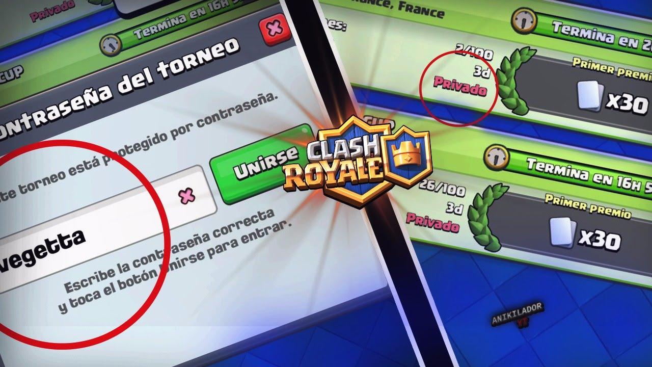 Come saltare la password dei tornei privati in Clash Royale? 1