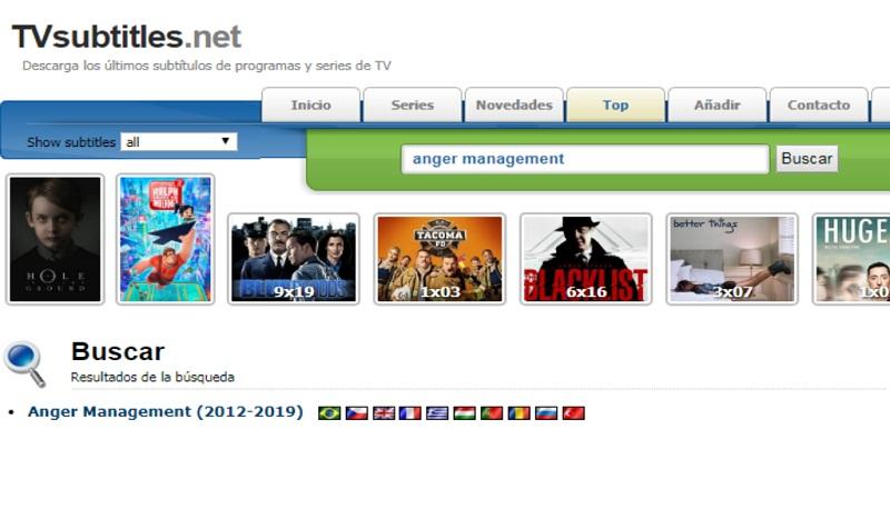 Quali sono i migliori siti Web per scaricare gratuitamente sottotitoli di film e serie in spagnolo? Elenco 2019 3