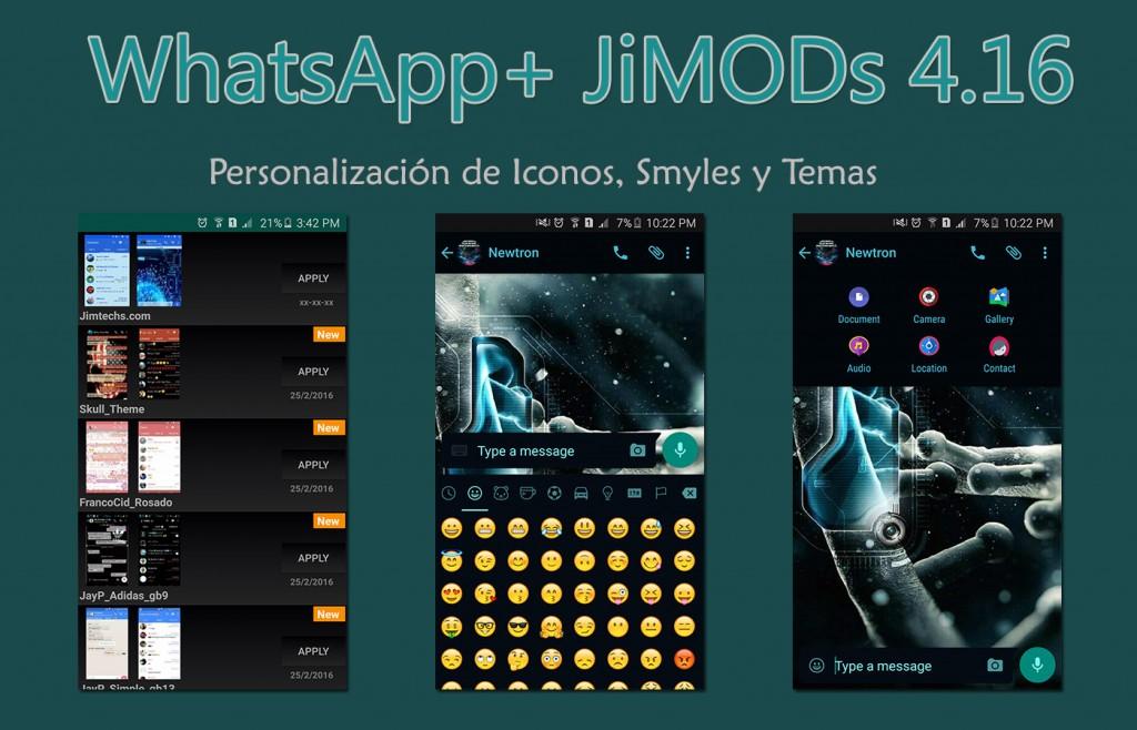 Scarica WhatsApp + JIMODS V4.16 AntiBaneo e aggiornato 2