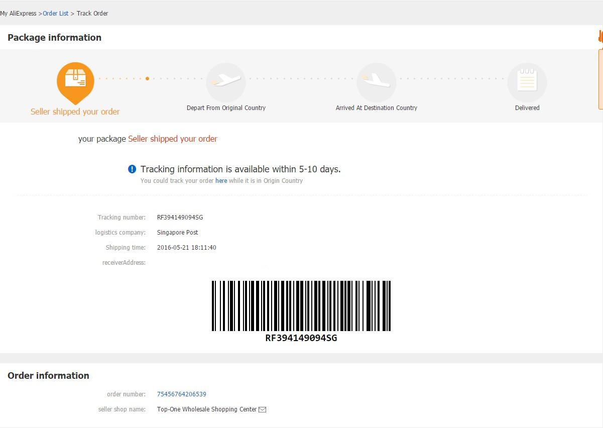 Come tenere traccia di un acquisto di Aliexpress in qualsiasi paese? 1