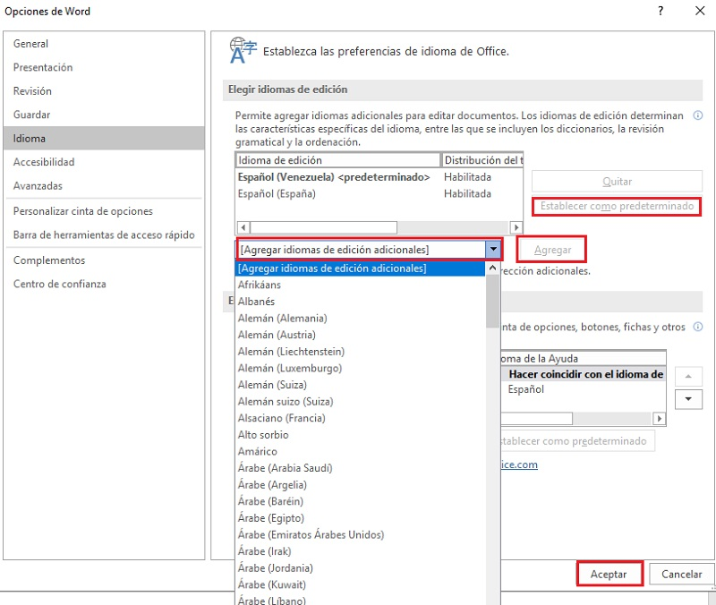 Come cambiare la lingua in Microsoft Word e in tutti i Microsoft Office? Guida passo passo 6