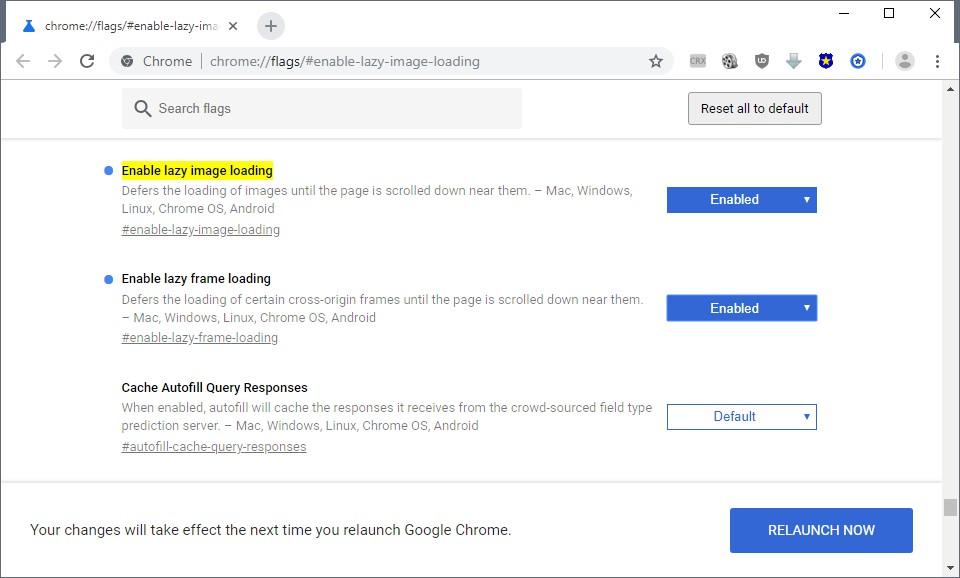 Come caricare le pagine più velocemente in Chrome con LazyLoad molto più velocemente 2