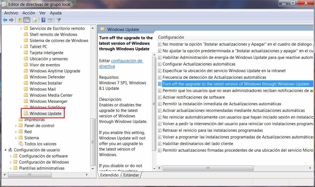 Come abilitare definitivamente il registro degli aggiornamenti automatici di Windows? 1