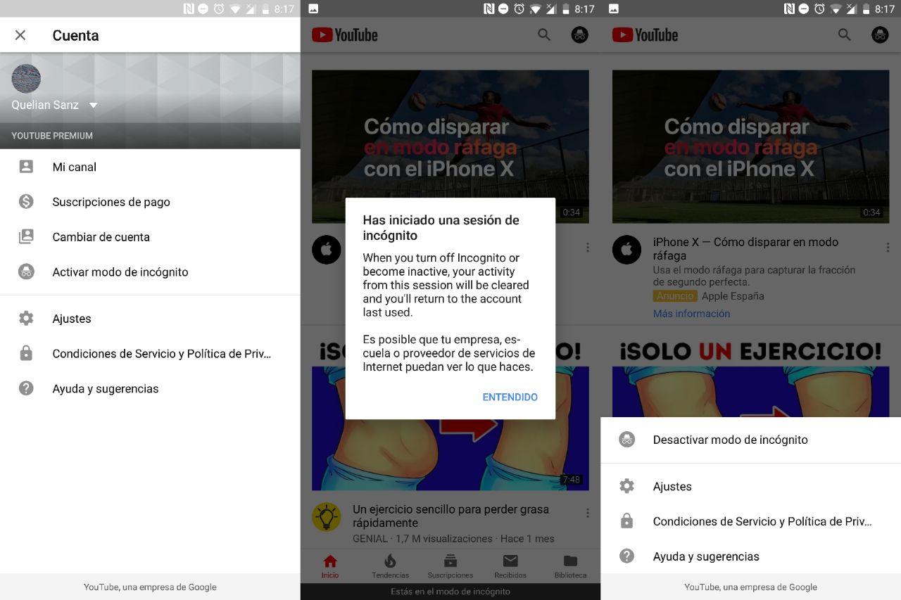 Come abilitare e disabilitare facilmente la modalità di navigazione in incognito di YouTube 2