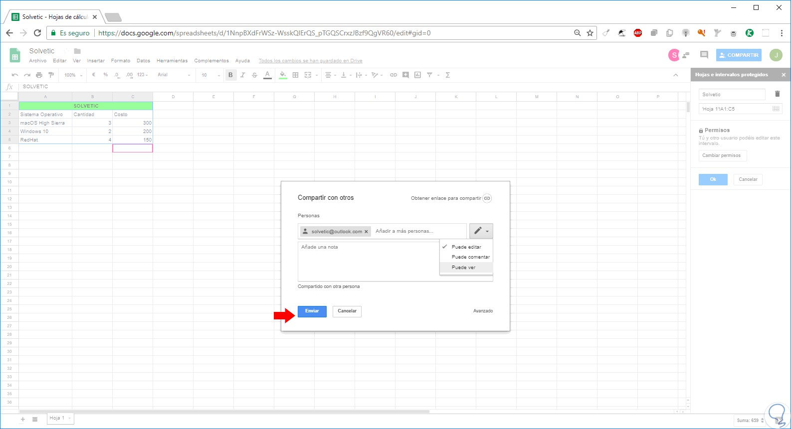 Come proteggere o bloccare le celle in Excel 3