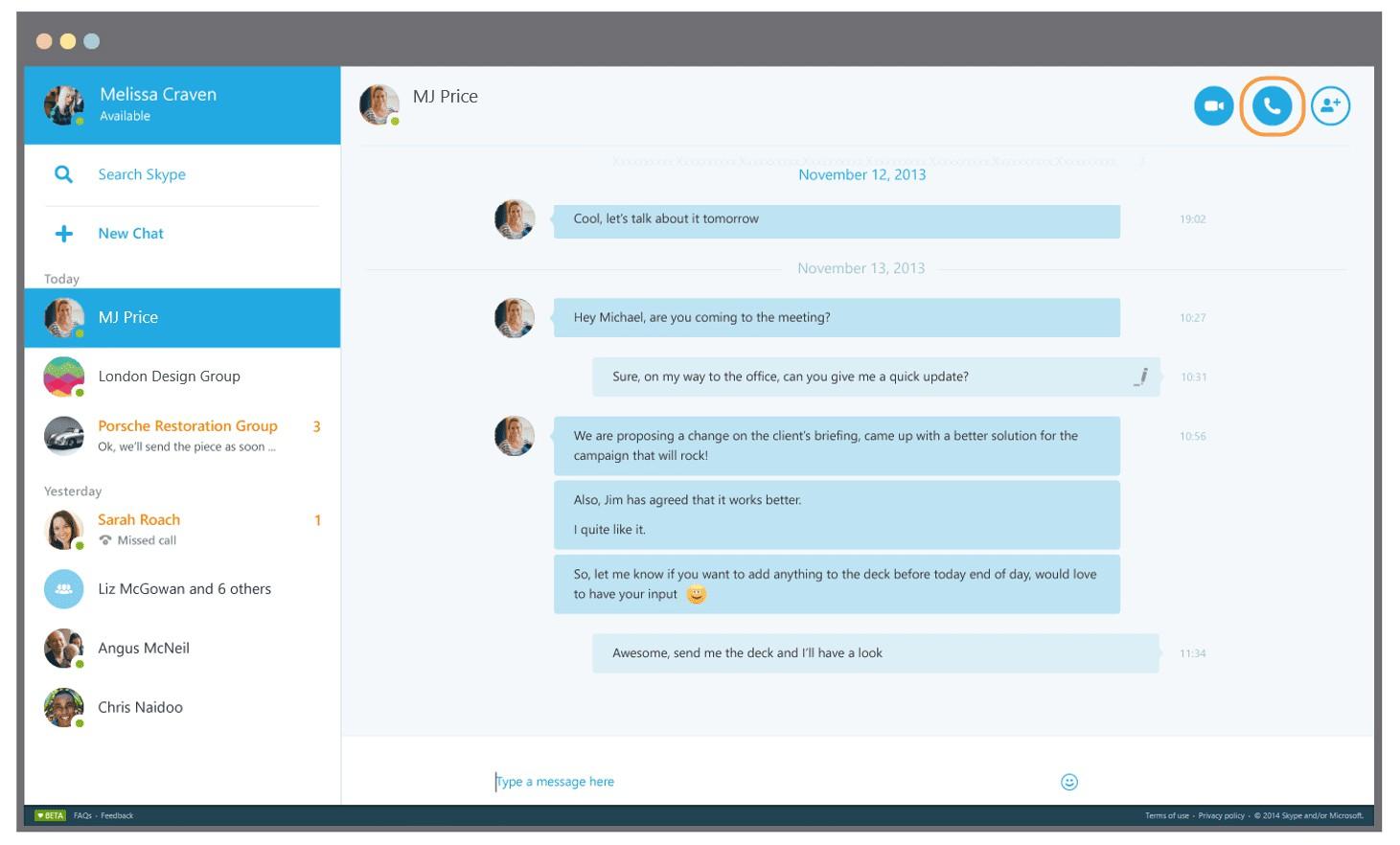 Come condividere lo schermo durante una chiamata Skype 1