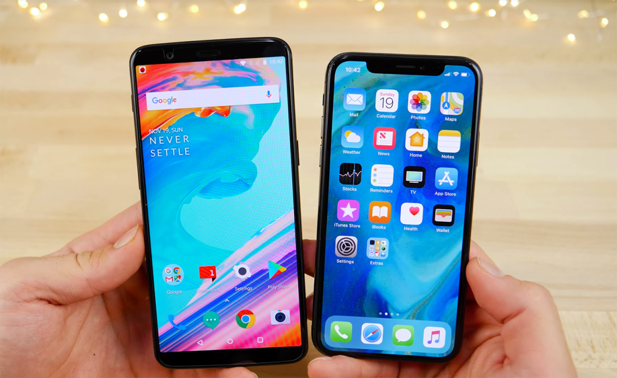 Come convertire un telefono Android in un iPhone X 1