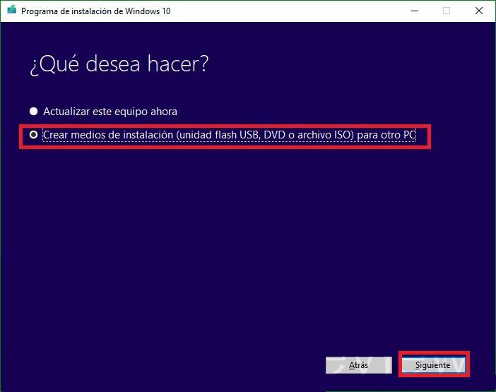 Come creare un USB avviabile o avviabile per installare Windows 10 da un pendrive esterno? Guida passo passo 1